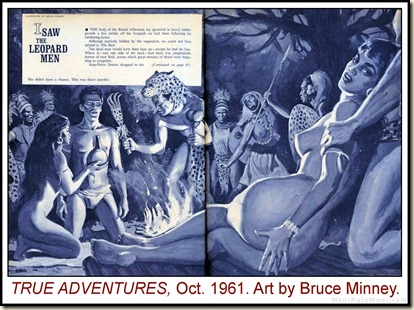 TRUE ADVENTURES, Oct 1961, art by Bruce Minney