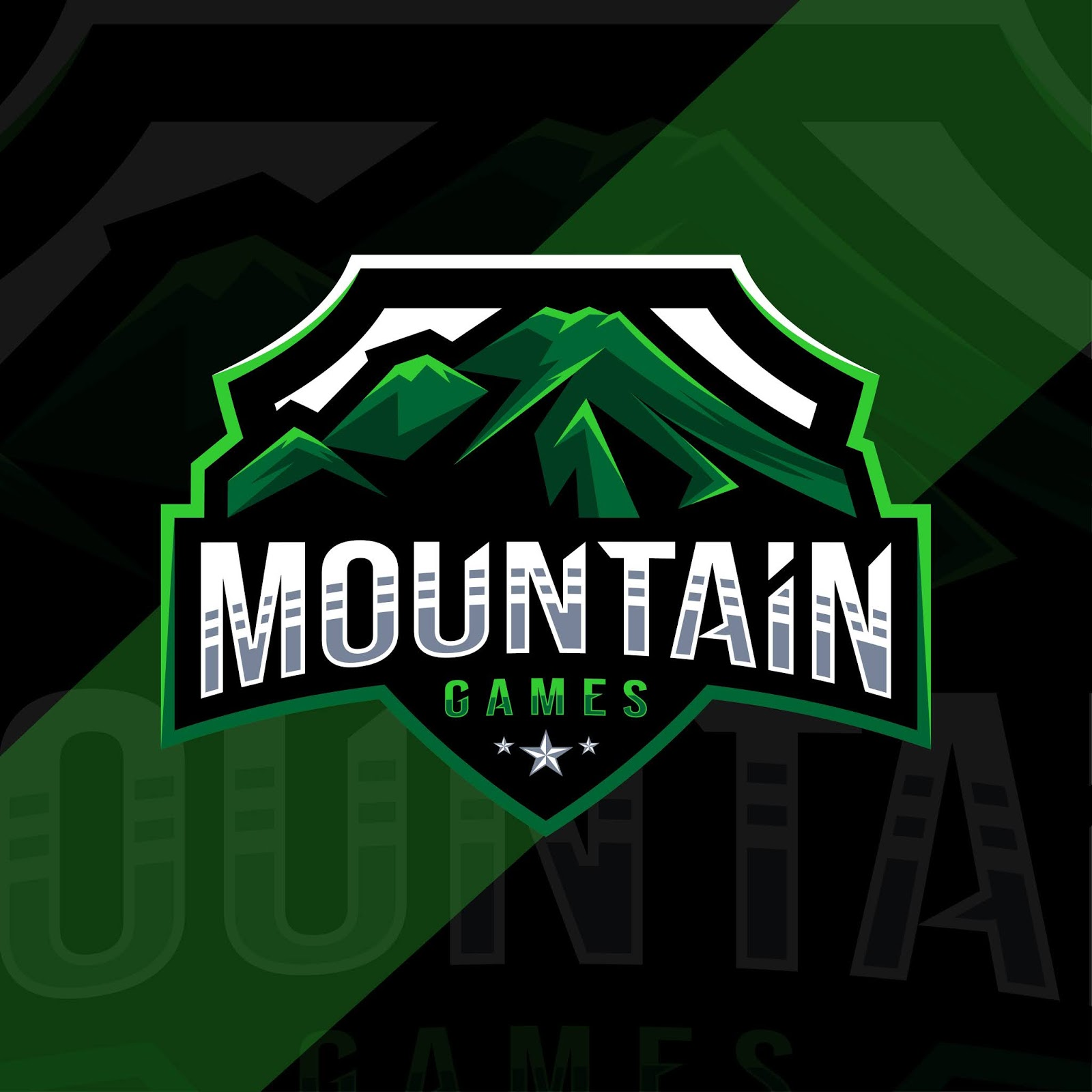 Mountain Games Mascot Logo Sport Design Free Download Vector CDR, AI, EPS and PNG Formats