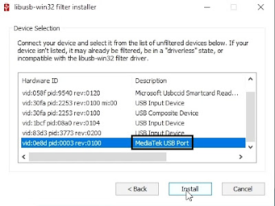 How to install LibUSB Filter