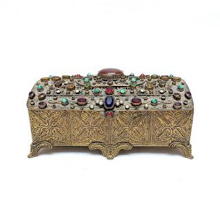 Vintage Austrian Ormolu Trinket Box