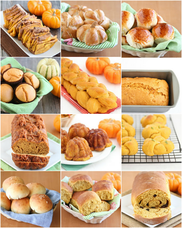 photo collage of different breads
