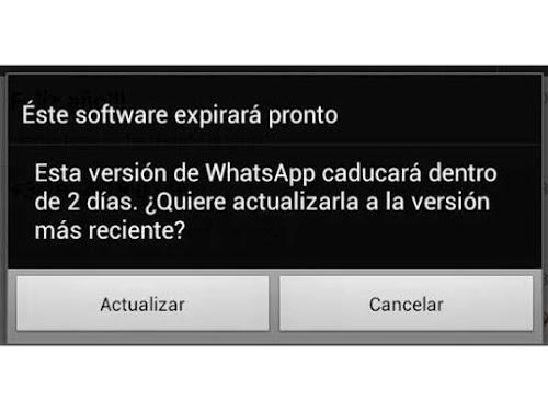 Mensaje aviso Whatsapp