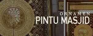 Ornamen Pintu Masjid