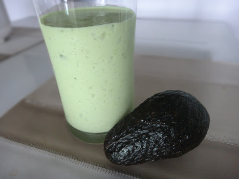 Avocado Milkshake with Protein Powder