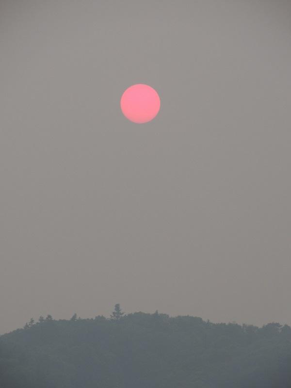 煙霧の太陽 桃色の夕陽 ①