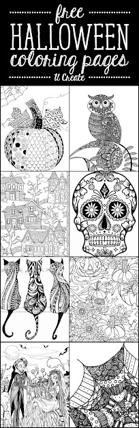 Free Halloween Adult Coloring Pages At Create