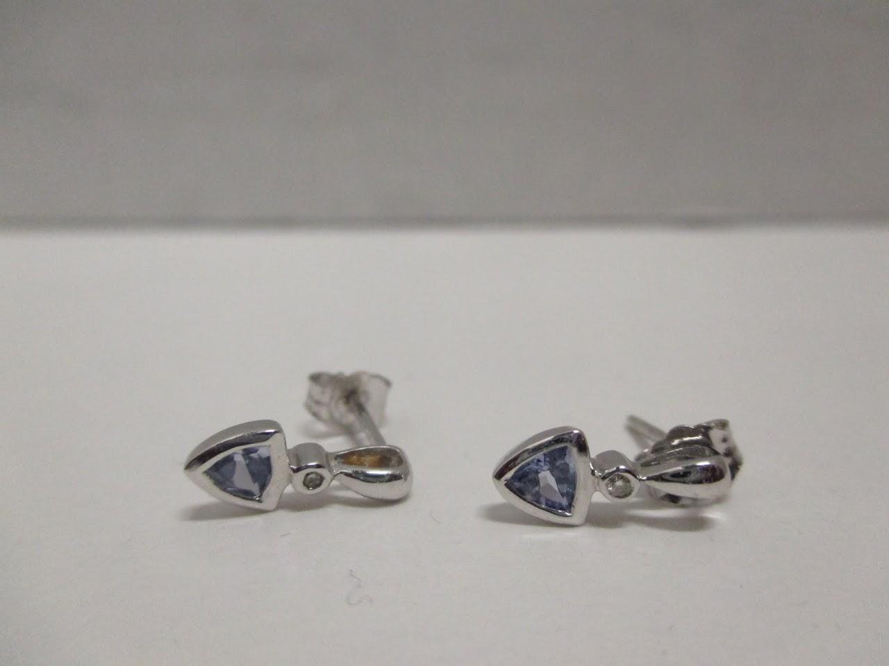 14k and Stone Earrings