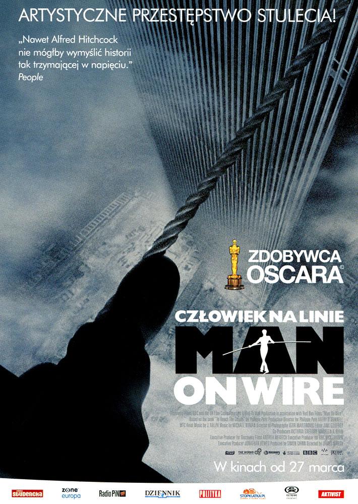 Ulotka filmu 'Człowiek Na Linie (przód)'