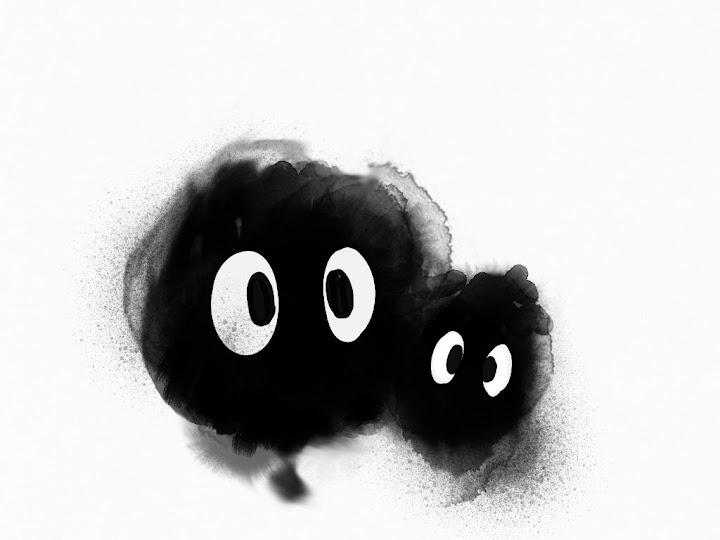 Soot Sprites made with Sketches