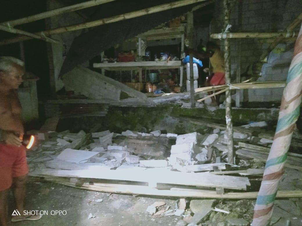 Dua Kecamatan Laporkan Adanya Kerusakan Pasca Gempa M7,0 Guncang Sulut