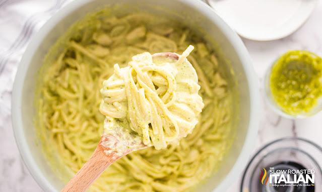 pesto pasta chicken recipe spoonful in the instant pot