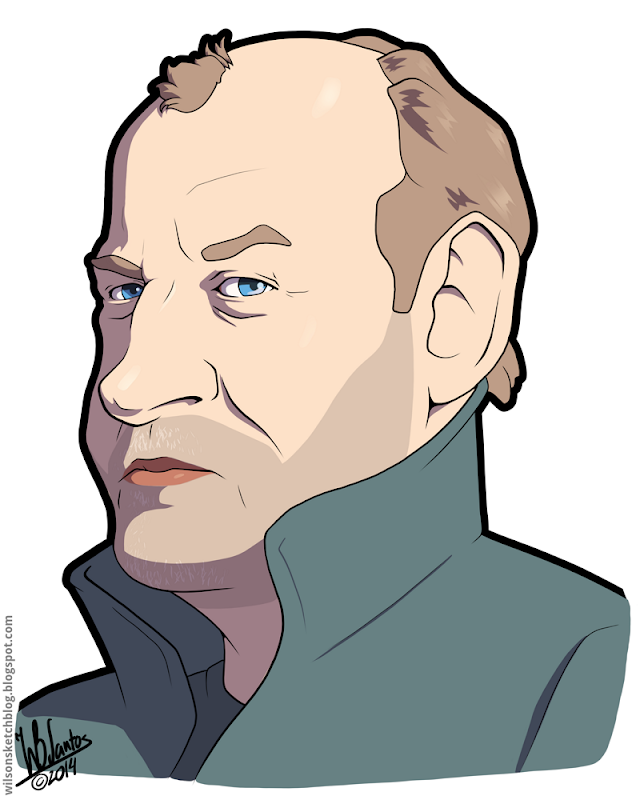 Cartoon Caricature of Joe Cocker.