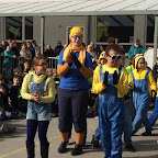 Carnaval in de lagere school 17 juf Cindy