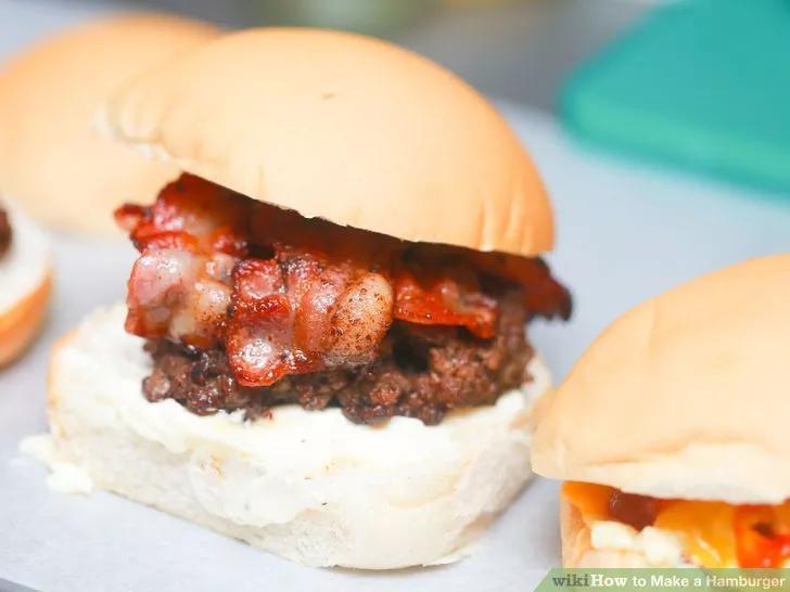 Hinh anh: Hamburger thit xong khoi bo dau