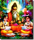 [Valmiki writing and teaching]