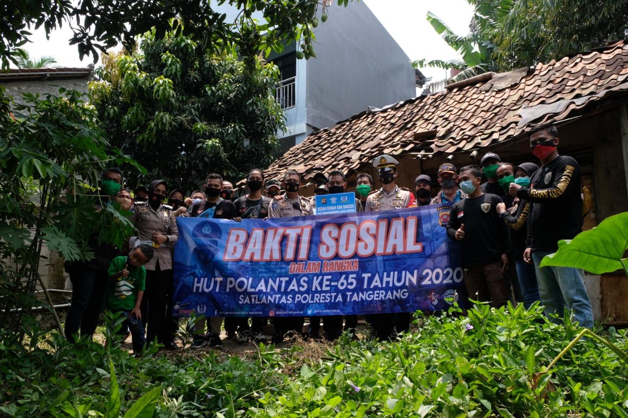 Kapolresta Tangerang, Bedah Rumah Kumuh Milik Tamri di Tigaraksa Banten