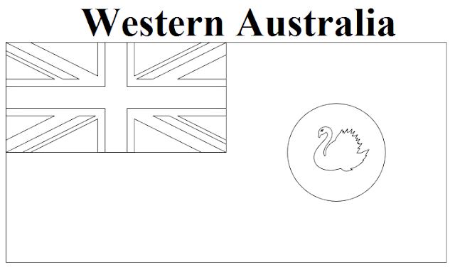 Geography Blog Western Australia Flag Coloring