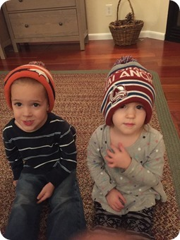 Twins in Wesley's Hats