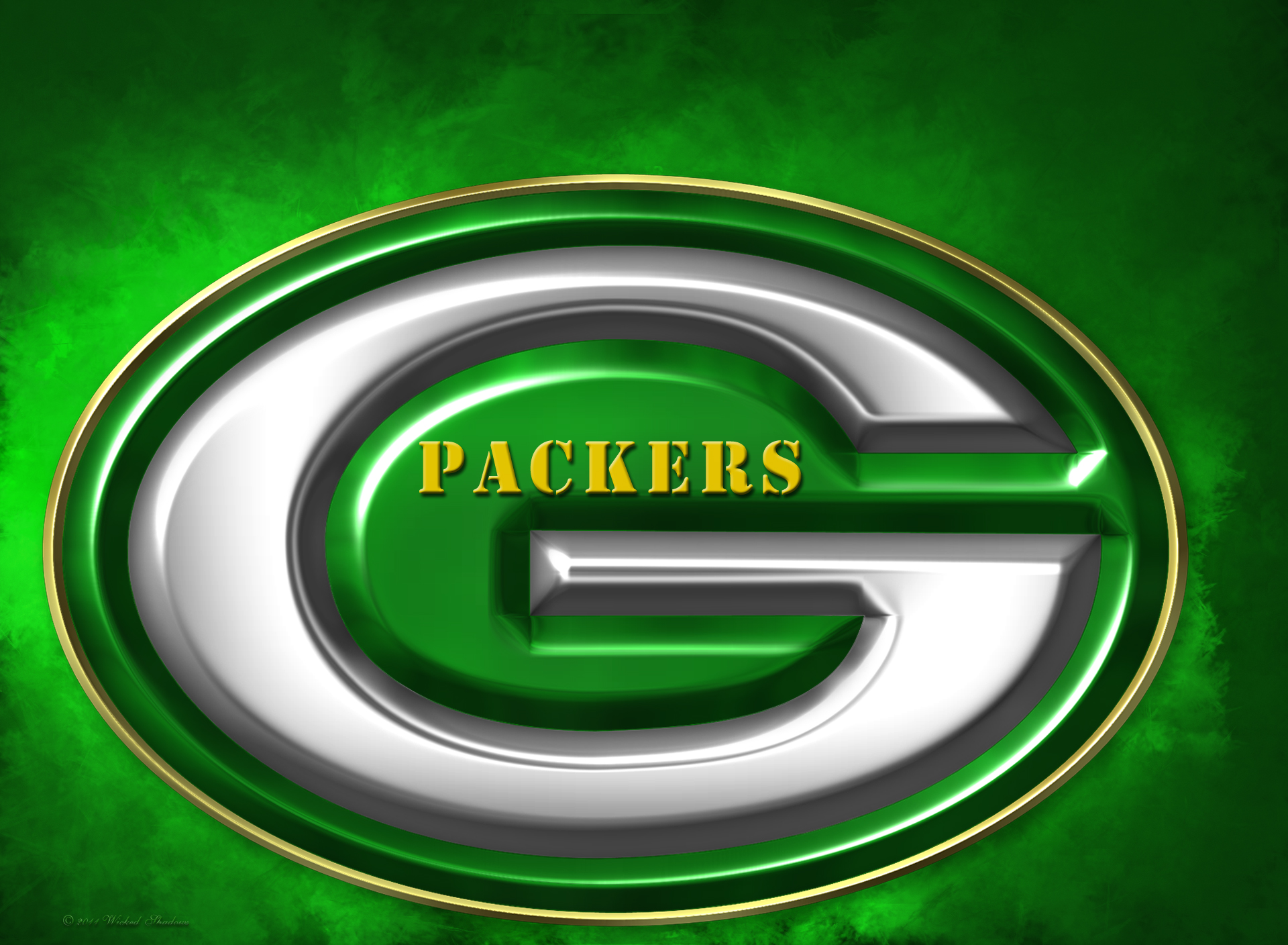 Wallpapers By Wicked Shadows Green Bay Packers 2011 3d Logo Wallpaper