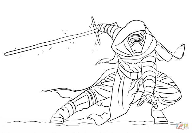 Click The Kylo Ren Coloring Pages