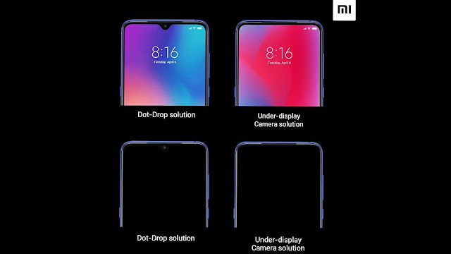 image result for under screen front camera xiaomi
