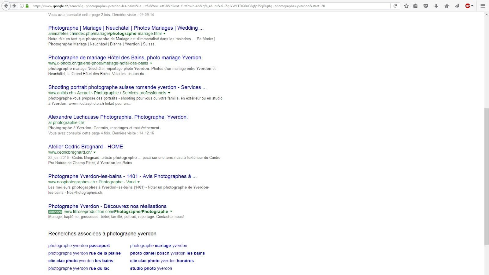 Meilleur Site Pour Photographe impossibilité d'atteindre mon site après recherche. - search