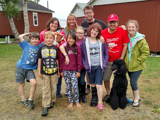 The hardest part about leaving camp is the FRIENDS we leave behind. This is the Vikberg family and we see them every summer at camp and have grown to love them very very much.
