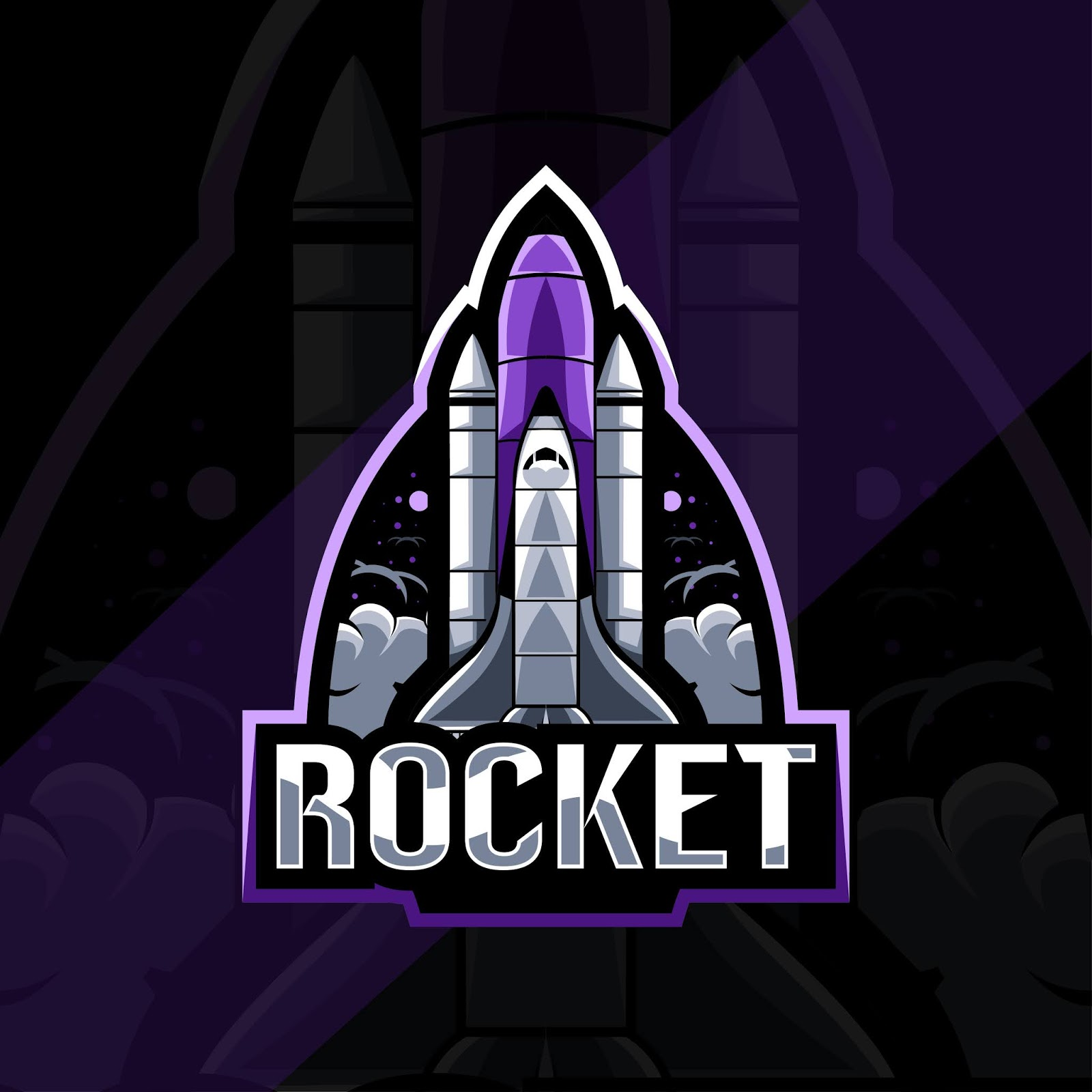 Rocket Mascot Logo Esport Template Design Free Download Vector CDR, AI, EPS and PNG Formats