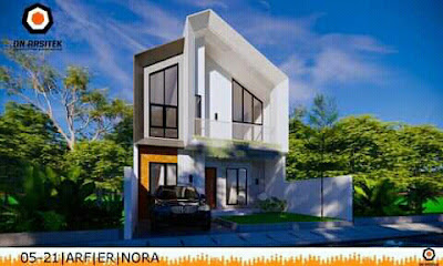 desain interior rumah minimalis atap miring