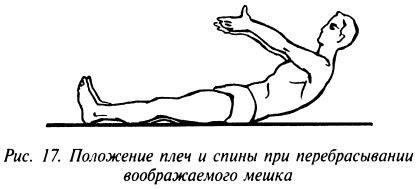 Положение плеч и спины при перебрасывании воображаемого мешка