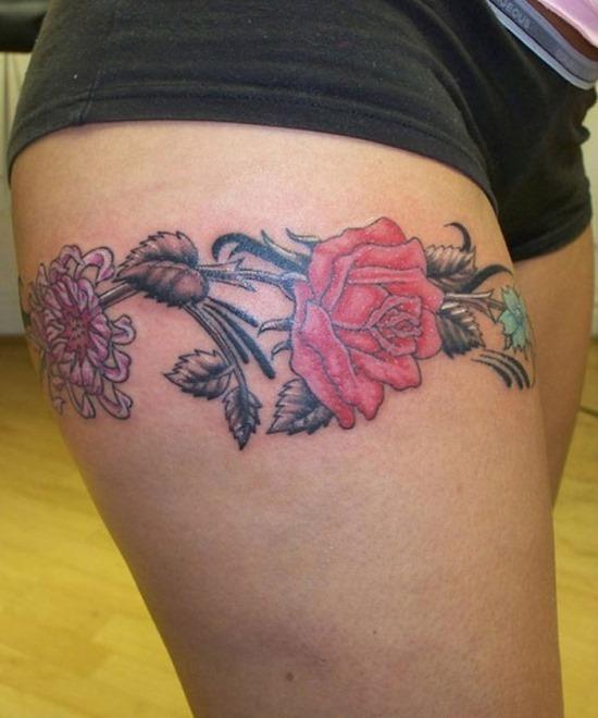floral_banda_coxa_tatuagem