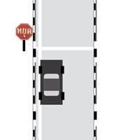ท่าขับรถเดินหน้าและหยุดรถเทียบทางเท้า