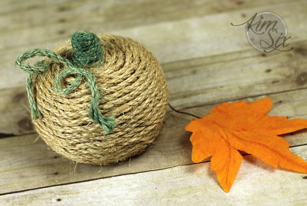 Dollar Store Rope Pumpkin Makeover