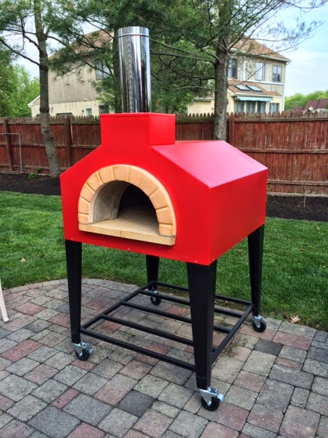 Forno Bravo Andiamo outdoor, fully assembled, residential pizza oven.  Photo courtesy of Dr. K.