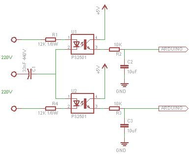 Designing optocoupler circuit for arduino input on