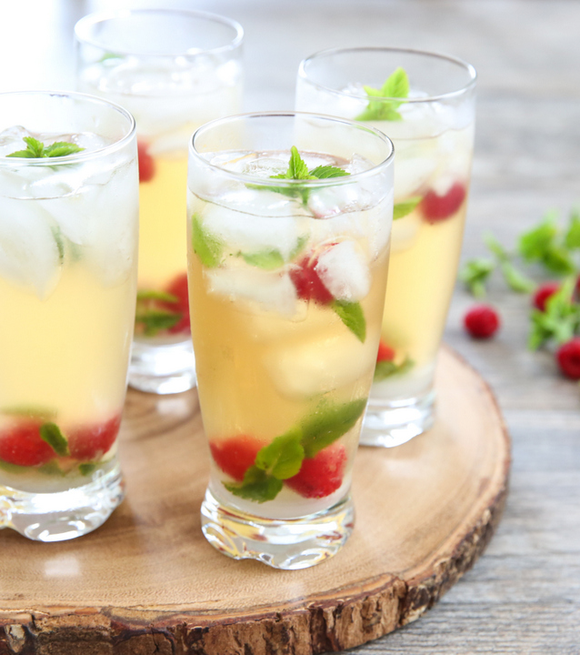 Iced Green Tea Mojitos - Kirbie's Cravings