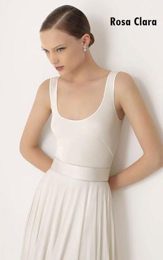 Vestido de novia escote en U sin mangas