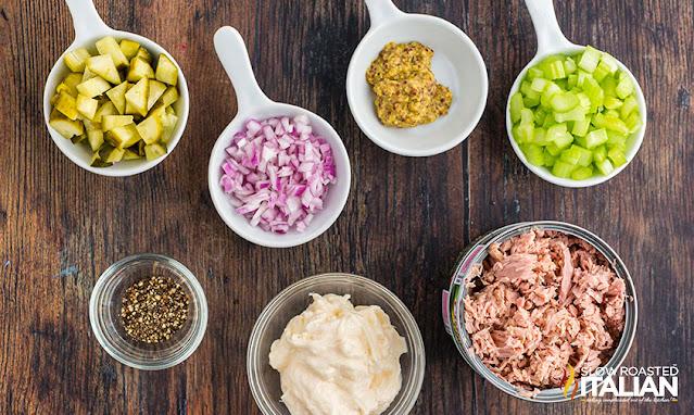 Tuna Salad Recipe ingredients