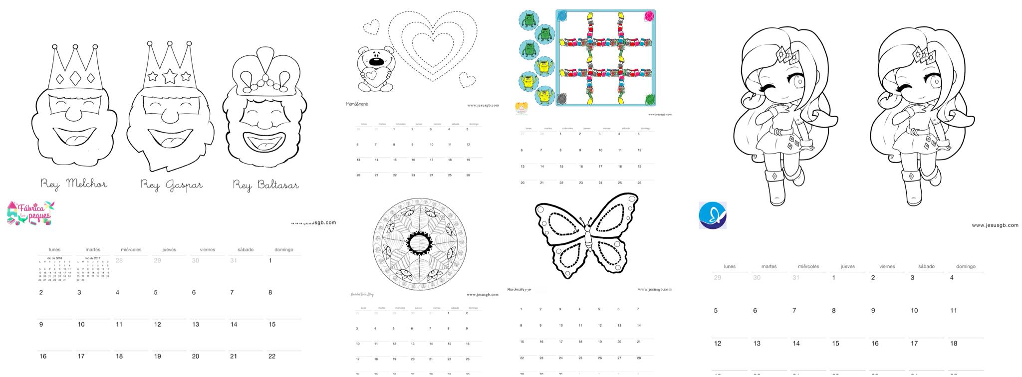 Calendario 2017 con actividades infantiles | Gololo y Toin: blog de ...