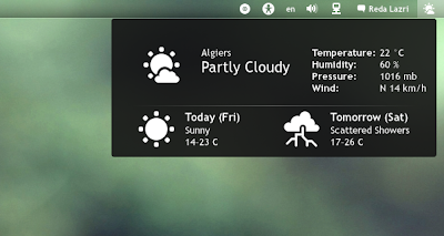 GNOME Shell weather extension improved
