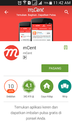 Download Aplikasi Mcent