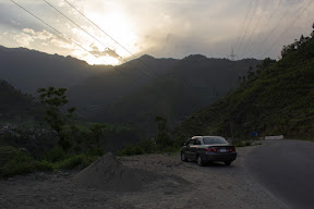 Beautiful sunset near Battagram, Khyber Pakhtunkhwa