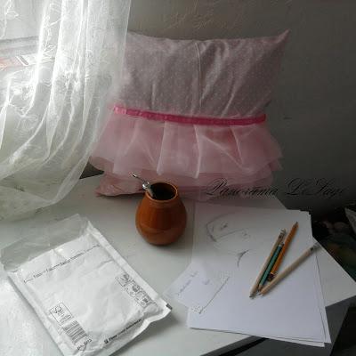 poszewka różowa poduszka baletnica