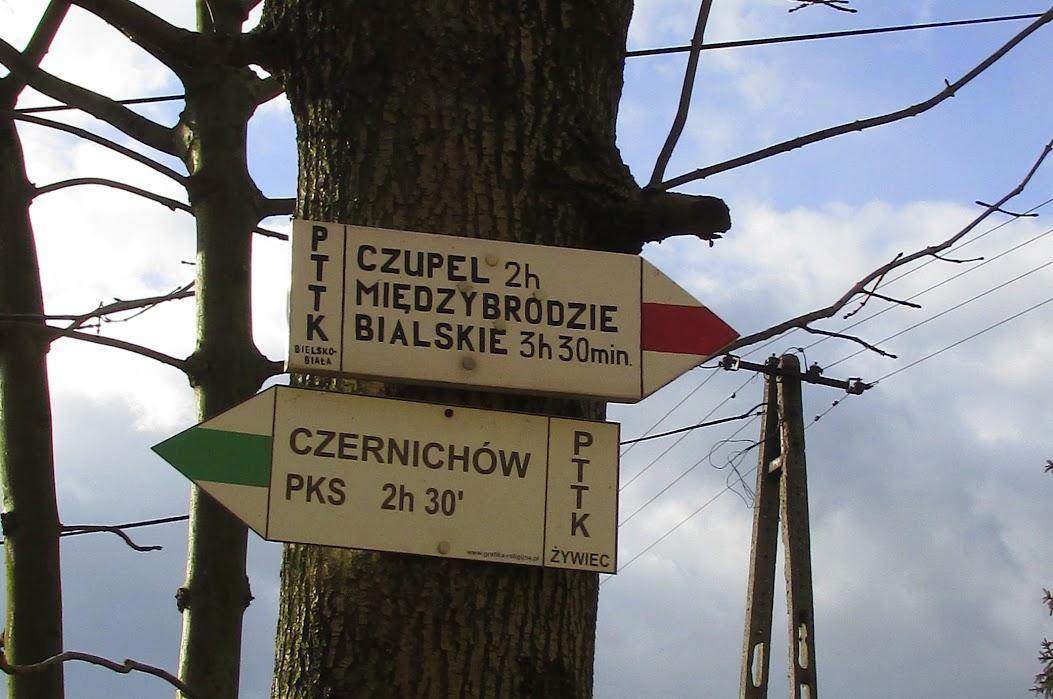 Łodygowice - Przełęcz Klimczaki - Czernichów