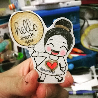 contoh handdrawn sticker