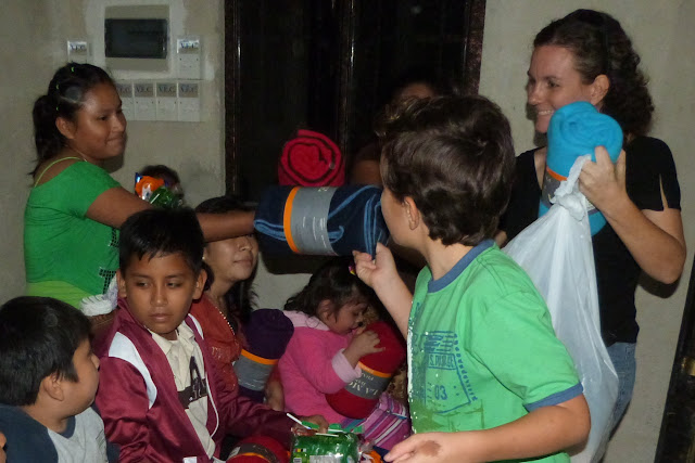 Passing out the gifts!