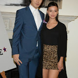 WWW.ENTSIMAGES.COM -    Tomo Kurata and Leah Weller   arriving at    Real Stars Are Rare - launch party at Somerset House, Strand, London October 8th 2014Paul Weller launch  his 2014 menswear collection at 101 London, a space within Somerset House.                                                     Photo Mobis Photos/OIC 0203 174 1069