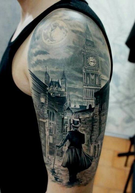pico_retro-vitoriana_steampunk_braço_de_tatuagem