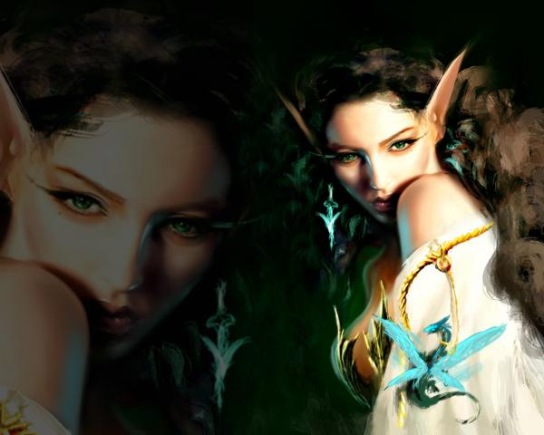 Elf Green Eyed Beauty, Fairies 2