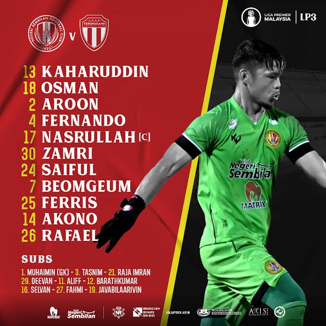 Live Streaming Negeri Sembilan vs Terengganu 2 Liga Perdana 13.3.2021